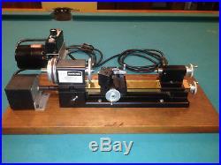 Sherline Sears Craftsman 3 Lathe Power Feed Brass Bed Watchmaker Jeweler Mount