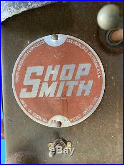 Shopsmith 10ER Accessories Table, Jig Saw, Lathe, Router, Drill Press