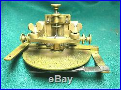 Small Antique Watchmaker's Wheel Cutting Engine, Brass and Steel