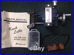 Snap On Tools Ya180 Kwik Lathe On The Car Rotor Brake Lathe Box & Accessories