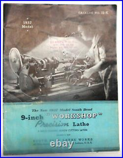 South Bend Vintage 9 Lathe, 3 1/2 bed, 1935-1937