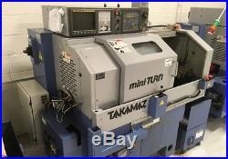 Takamatsu MINI TURN 2006 2 AXIS CNC GANG TOOL LATHE, Fanuc Control