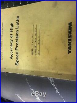 Takisawa yuasa TSL-800 14x30 precision tool room lathe original paperwork