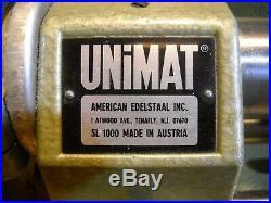 UNIMAT SL-1000 MINI LATHE With DB200 ACCESSORIES, BOX ORIGINAL MADE IN AUSTRIA