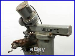 US Burke Machine Tool Co MVI Millrite Adjustable Angle Lathe 180° Rotation 115 V