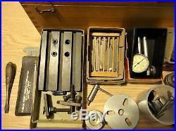 Unimat Db200 Mini Lathe Accessories, Original Wood Box Made In Austria