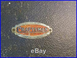 Vintage 1940s or 50s Boxed CRAFTSMAN 7 Pc WOOD LATHE TURNING CHISEL SET USA