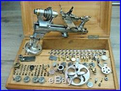 Vintage Boley Leinen & Co WW watchmakers lathe set-quality German lathe 8 mm