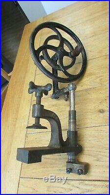 Vintage F Lorch Hand Drive Wheel for Watch Maker's Lathe