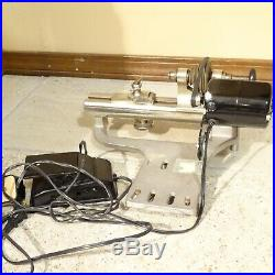 Vintage G BOLEY 8 mm Lathe with Headstock, Tool Rest, Motor, & Foot pedal works