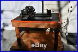 Vintage ORIGINAL Sears Craftsman 6 metal Cutting Bench lathe 101.21400 + Table
