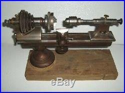 Vintage Watchmaker/Jeweler/Micro Lathe with 3 Jaw Chuck Jaw & More