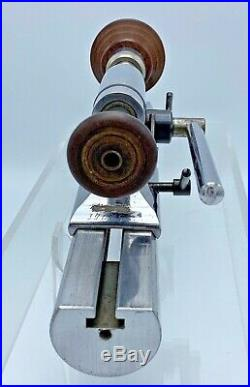 Vintage Watchmakers Levin Hard Lathe With Lever Tailstock Headstock Collets 8mm