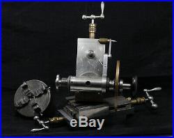Watchmaker lathe cross slide and milling dividing head 8mm Wolf Jahn
