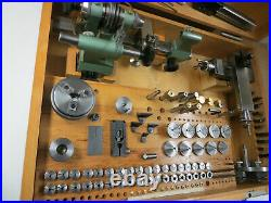 Watchmakers Lathe Andrä & Zwingenberg with accessories in wooden box