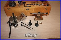 Watchmakers Lathe G. Boley 8 mm with Accessory Box