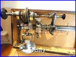 Watchmakers Lathe Wolf Jahn 8 mm with Set of Collets