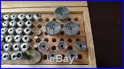 Watchmakers WW 8mm Complete Lathe Collet Set with 6 Jaw Bezel Chuck in Great Cond