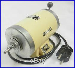 Watchmakers lathe motor Rudolf Flume, speed control & reversible, no reserve