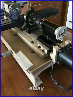 Working Tabletop Electric CNC Metal Lathe withTools and Extra Parts/Tools